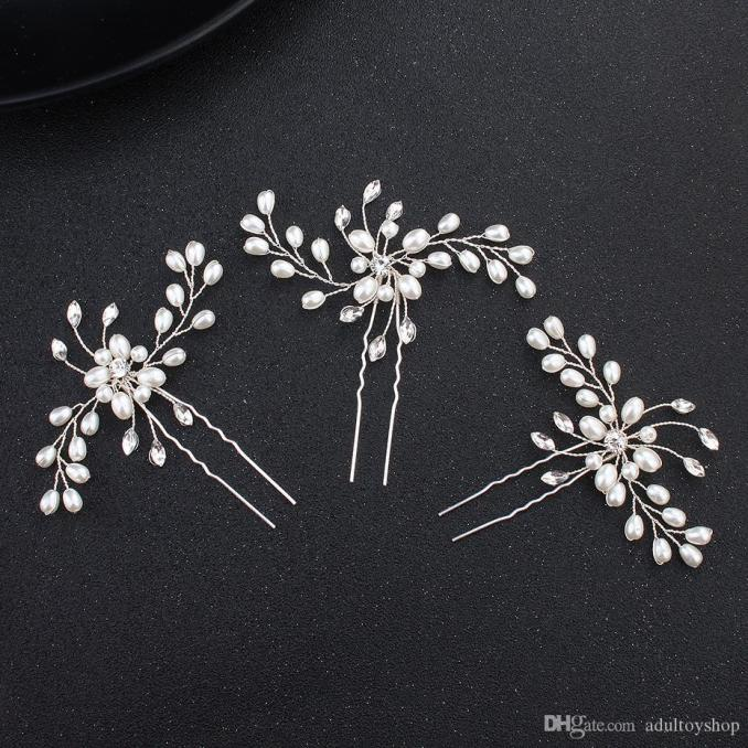 hair accessories hairpin pin u clip wedding wedding hair headwear, pin clip, diamond drill flower pin wholesale factory direct sales