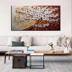 Large Artwork For Living Room Simple Interior Design In Philippines Wall Pictures Flower Modern Hand Painted Canvas Oil Paintings Abstract Art