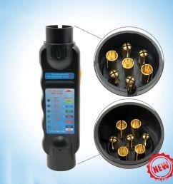 durable 12v 7 pin car truck trailer plug socket tester wiring circuit light test tool [ 1000 x 1000 Pixel ]
