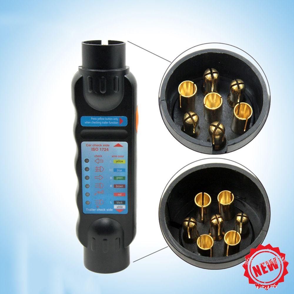 hight resolution of durable 12v 7 pin car truck trailer plug socket tester wiring circuit light test tool
