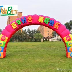 2018 thanbetter outdoor welcome inflatable flower arch inflatable