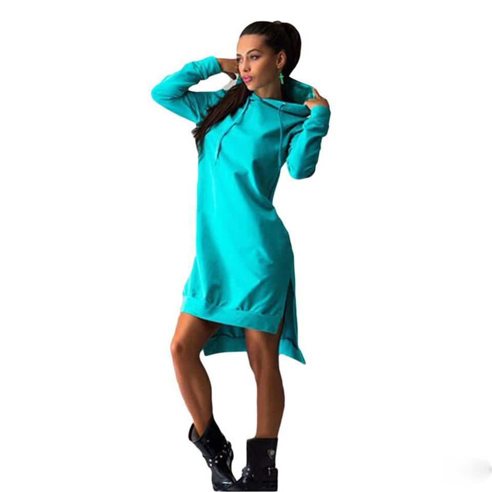 check out f7d41 03099 Damen Hoodie Kleid