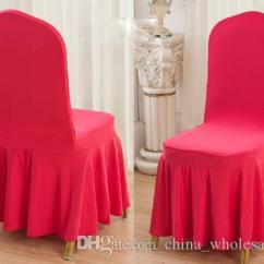 Chair Covers Direct From China How To Recover A Seat Factory Aqua Colour Lycra Cover With Skirt All Around The Bottom Spandex