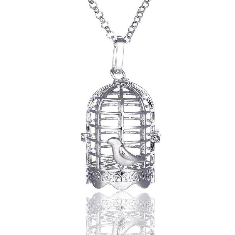 2020 Disffuser Necklace Birdcage Cone Pearl Accessories
