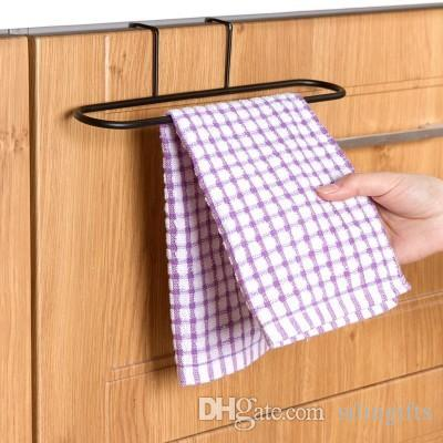 kitchen towel hanger coolest gadgets 2019 hanging rack holder rail organizer free nail door back bathroom cabinet cupboard