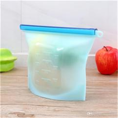 Kitchen Bags Knife Sets Reusable Silicone Food Fresh Fridge Storage Containers Refrigerator Bag T2i111