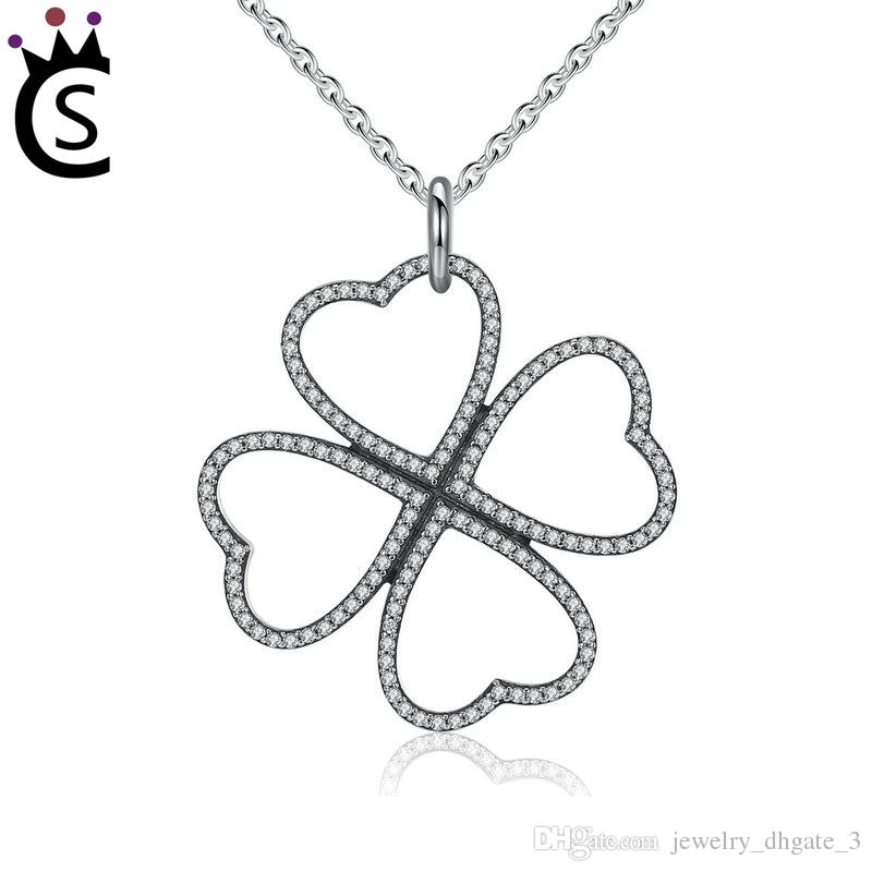 2019 Authentic 925 Sterling Silver Bulk Charms Four Leaf