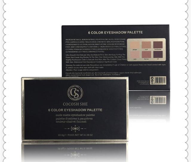 High Quality Fashion Cocosh She Eyeshadow Plate Matte Eyeshadow Makeup Box Beauty Make Up Series