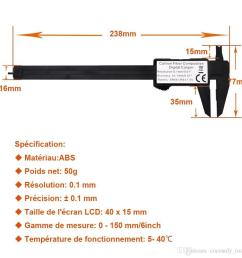 measuring tool 0 150mm 6 inch plastic lcd digital electronic carbon fiber vernier caliper rule [ 1000 x 1000 Pixel ]