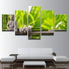 Canvas Prints For Living Room Best Colours Small Walls Posters Wall Art Framework Statue Of Buddha Lotus Candle Paintings Bamboo Pictures