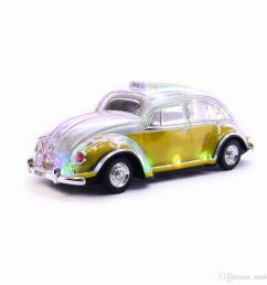 crystal car wireless speaker vw beetle shaped auto taxi sound box with led flashing lights mp3  [ 1000 x 1000 Pixel ]