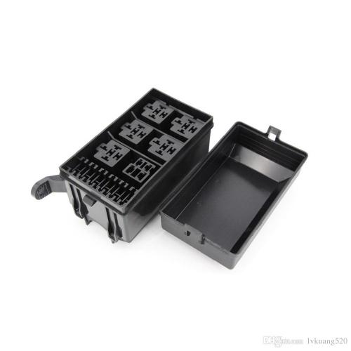small resolution of  6 ways auto fuse box assembly with 12v 4pin 40a 5pin 12v 40a relay auto