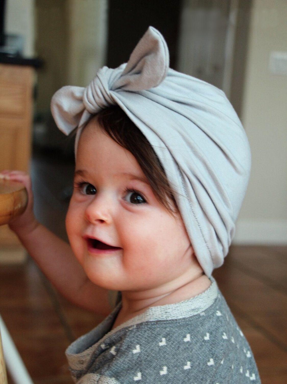 cute newborns bowknot cap