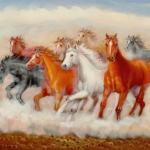 2020 Wild Horse Running 24x36inch 100 Hand Painted Oil Painting On Canvas Decorative Wall Pictures Oil Painting From Paintingart2017 34 88 Dhgate Com