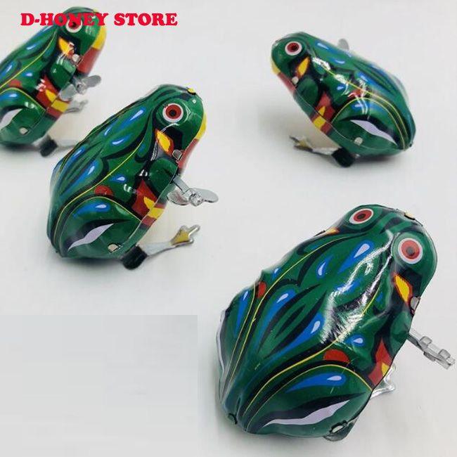 acheter nouveau vintage metal enroulement saut pour grenouille coak modele mecanique mecanique etain jouets collection classique education jouets