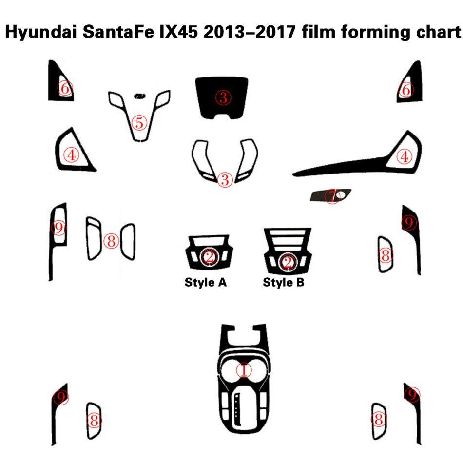 2020 For Hyundai SantaFe IX45 2013 17 Interior Central