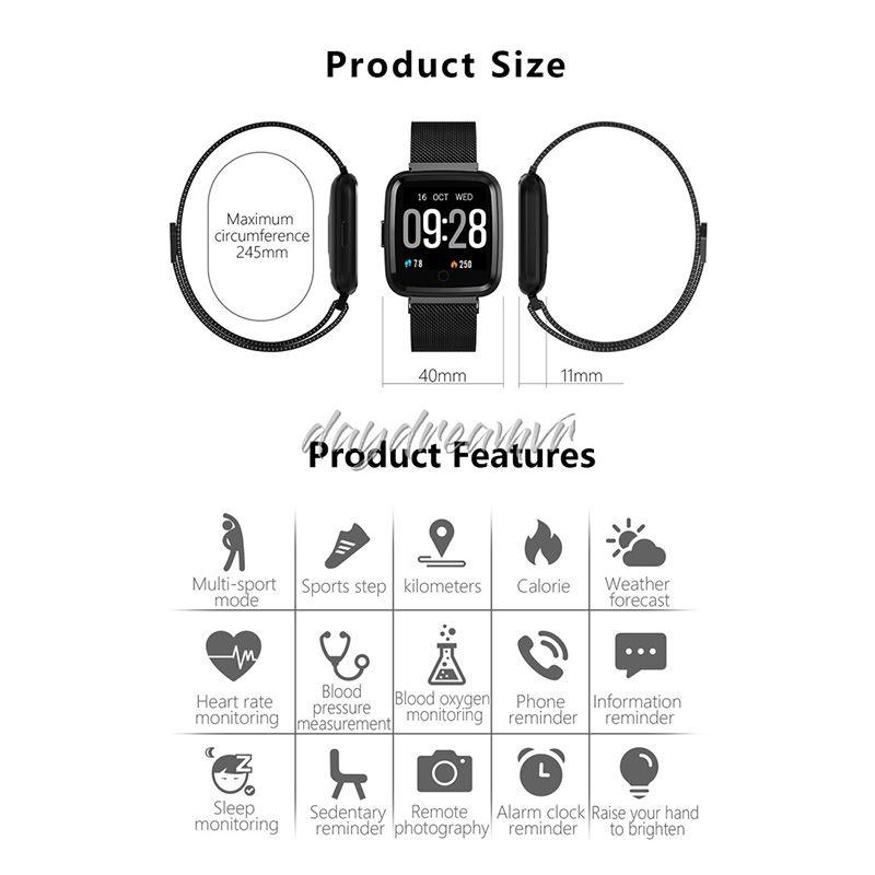 Y7 Bluetooth Fitness Bracelet Smart Band Blood Pressure