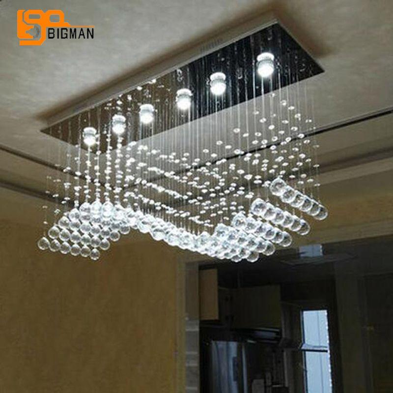 grosshandel wellenentwurf led kristalllichtleuchter moderne lampe ac110v 220v glanz wohnzimmer esszimmer leuchten von crystallighting 229 28 auf