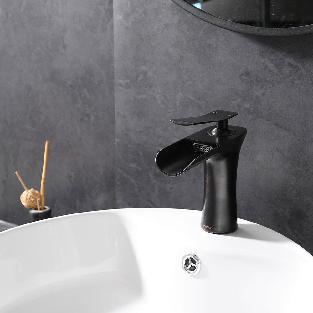 2021 waterfall bathroom faucet single handle one hole sink faucet oil rubbed bronze vanity faucets us stock from mand 1 82 41 dhgate com