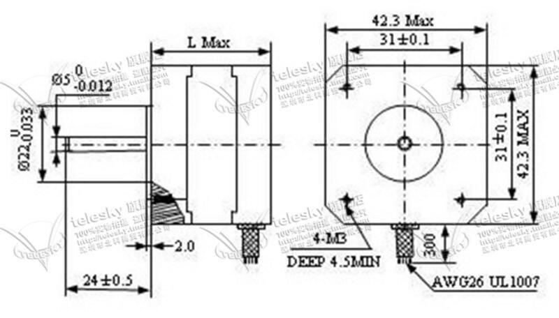 2020 Nema17 Stepper Motor 42BYG34 1.5A Drive TB6600 Motor