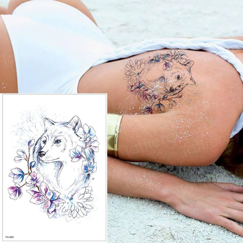 Tatuajes Temporales Para Las Mujeres Pierna Hombro Tatuaje Rosa Y