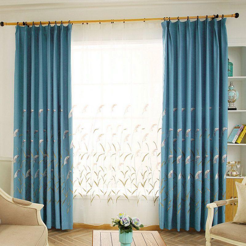 acheter pastorale faux lin blackout rideaux rideaux conception pour salon cuisine chambre maison drapes brodes tulle stores cortina de 23 99 du
