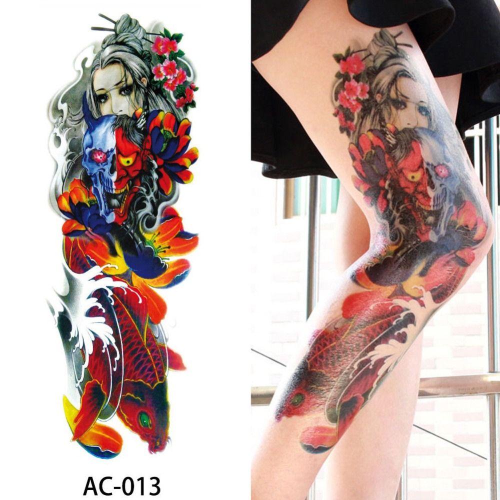 16 Diseños De Brazo Completo Tatuaje Temporal Manga Impermeable Tatuajes Para Hombres Frescos Mujeres Tatuajes Pegatinas En El Arte Corporal 272596
