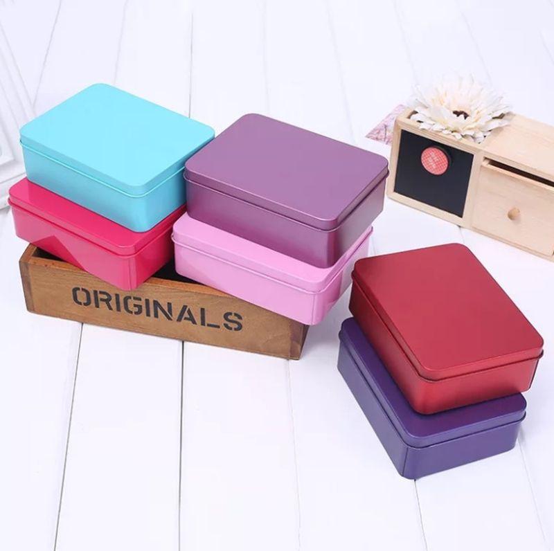acheter boite en fer blanc avec couvercle boites de rangement en metal petit organisateur de caisse a rabat vide pour de largent de 1 39 du
