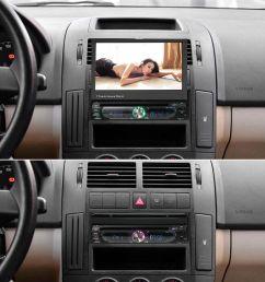 freeshipping 7 universal detachable car radio 1din audio stereo multimedia dvd player touchscreen bt am [ 1000 x 1000 Pixel ]