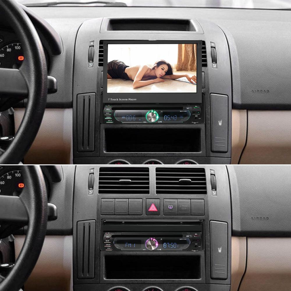 hight resolution of freeshipping 7 universal detachable car radio 1din audio stereo multimedia dvd player touchscreen bt am