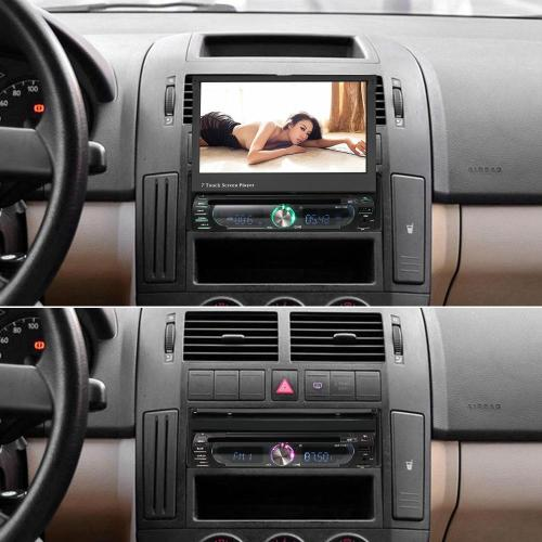 small resolution of freeshipping 7 universal detachable car radio 1din audio stereo multimedia dvd player touchscreen bt am