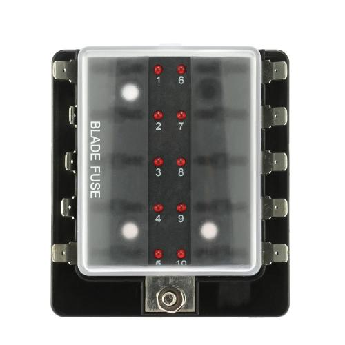 small resolution of 10 way blade fuse box halter mit led warnlicht kit f r auto boot marine trike 12