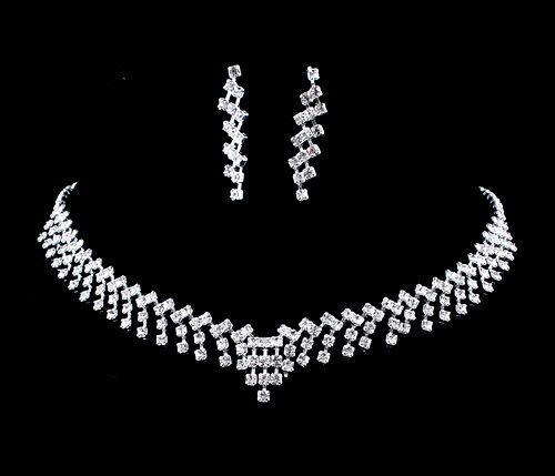 8253248cb2 2016 Silver Czech Rhinestone Crystal Wedding Jewelry Sets African Jewllery  Necklace Earrings Bridal Bridesmaid Accessories