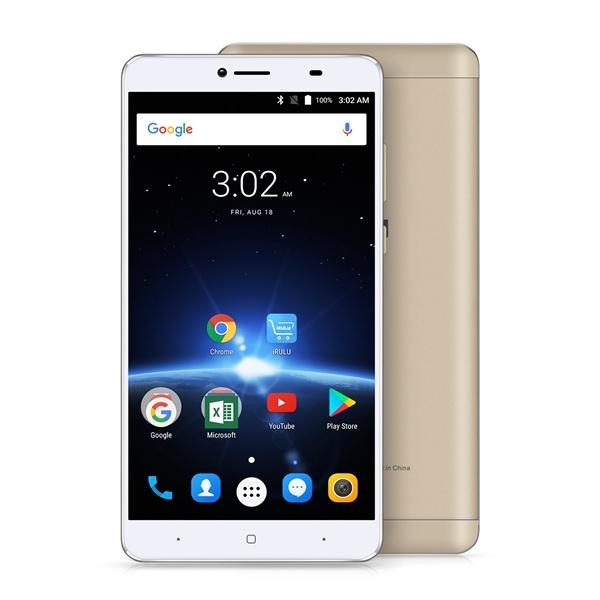 6.5 Inch iRULU GeoKing 3 Max Smartphone (G3 Max) Octacore MTK6750T Android7.0 3GB+ 32GB 4300mAh Dual SIM 3G 4G Cell Phone
