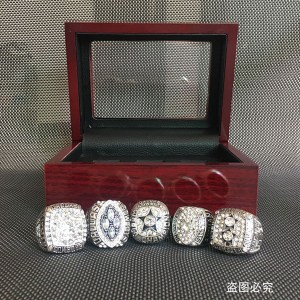 1971 1977 1992 1993 1995 Cowboys Super Bowl Replica Championship Rings Set For Men, Drop Shipping Silvery Cowboys Ring