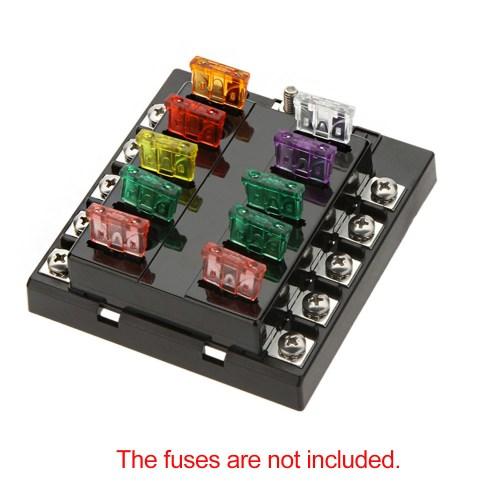 small resolution of auto fuse box wiring libraryhigh quliaty univesal car fuse box 10 way circuit 32v dc waterproof