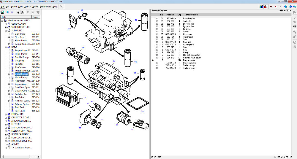 Komats Linkone Construction Epc Spare Parts Catalogue For