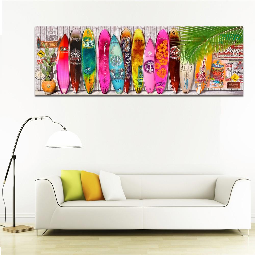 bright color summer surfboard