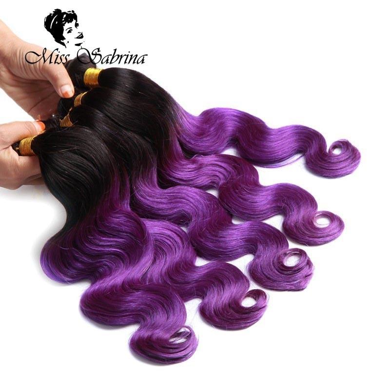 Cheap Purple Ombre Brazilian Body Wave Sexay Blonde Hair