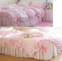 Bedding Slanting 100% Stripe Cotton Pure White Pink ...