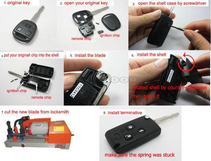 Remote Key Case Volvo C70 S70 S80 S90 V40 V70 V90 850 Keyless Entry