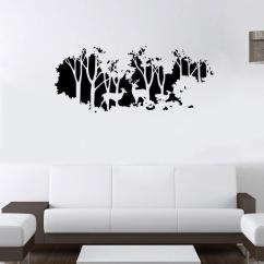Living Room Art Decor Modern Wall Units Extra Large Deer In The Forest Mural Bedroom Home Decal Wallpaper Poster Applique 58 X 126cm
