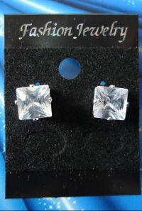 MEN Earrings MAGNETIC Earrings 8mm Square CLEAR Stud ...
