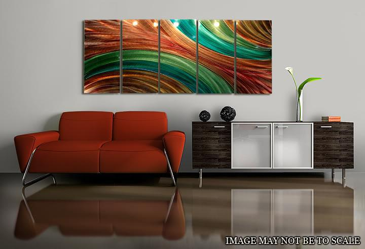 2017 Metal Painting Wall Original Abstract Art Home Decor No4 From