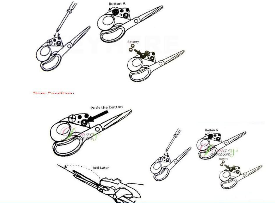2018 Novelty Laser Scissors Cut Straight Every Time Laser