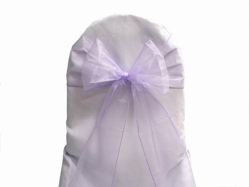banquet chair covers singapore swing wooden 100 lavender organza sashes cover bow wedding party shimmering sash high quality ...