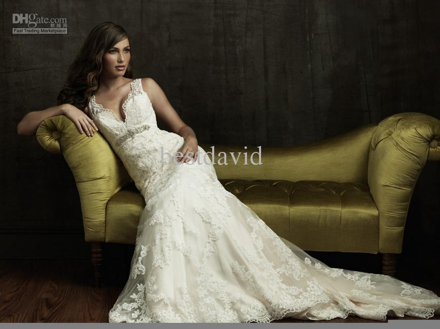 Discount Cheap 2012 Lace Vintage Wedding Dress Designer