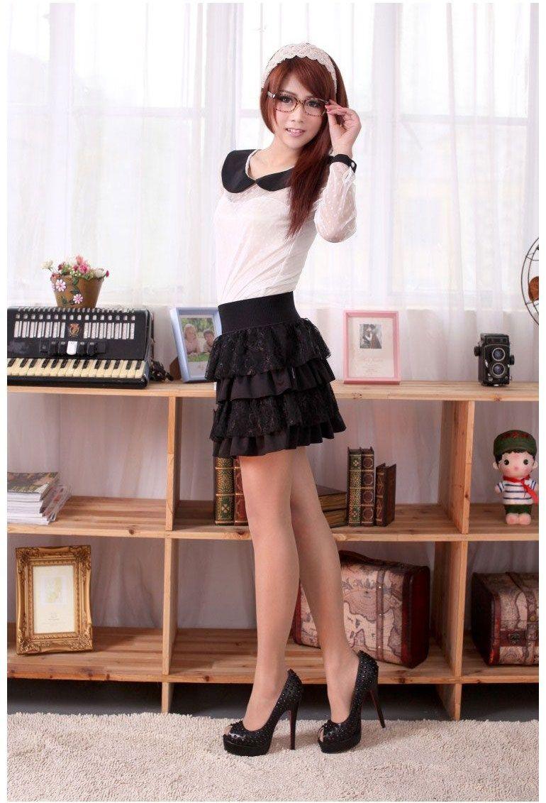 New Sexy Womens Lady Lace Skirt Girls Mini Skirt Dress Black 3193