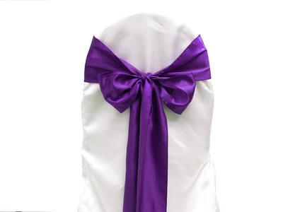 purple chair sashes for weddings a rudin chairs 2019 satin cover bow wedding party banquet 25pcs sash high quality new