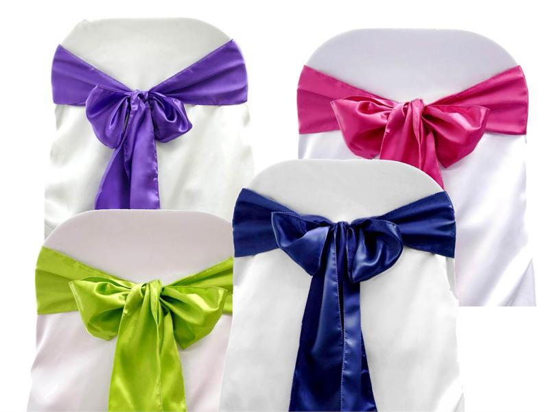 purple chair sashes for weddings glides hardwood floors 2019 satin cover bow wedding party banquet sash high quality new multi colors